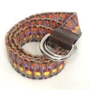 Eddie Bauer multi color adjustable belt size s/m